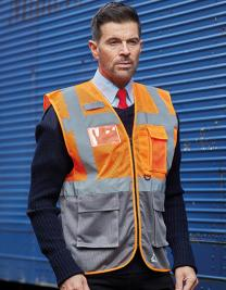 Hi Vis Top Cool Open Mesh Executive Waistcoat